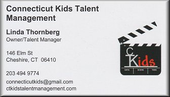 Connecticut Kids Talent Management