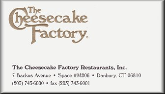 The Cheesecake Factory, Danbury